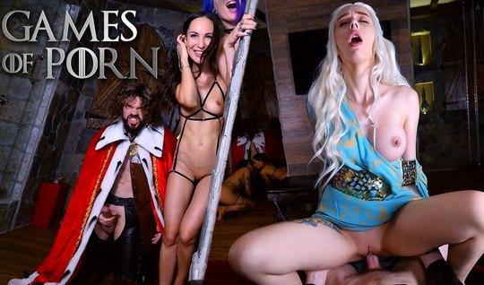 Татуированная блондинка пародирует страстную любовницу из игры престолов