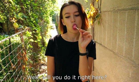Русская девица повелась на пикап и снялась в домашнем секс-видео с туристом